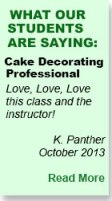 Cake Decorating Student Review