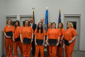 Sheriff Chuck Wright and SCC President Henry Giles with Operation Educate Graduates